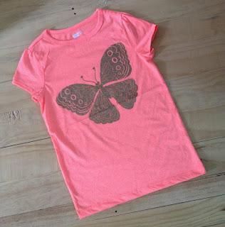 Áo thun bé gái hiệu Crazy 8, hàng xuất made in cambodia, màu xanh con bướm.