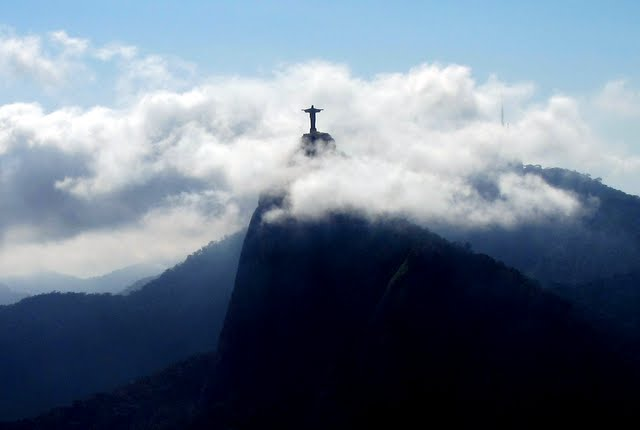 Christ the Redeemer Statue from Sugar Loaf Mountain in Rio de Janeiro Brazil