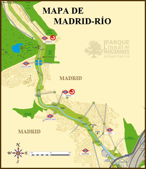 mapa madrid rio