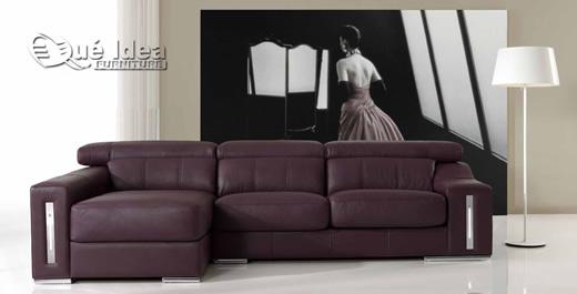 Comprar sofá de piel, de cuero modelo Madrid