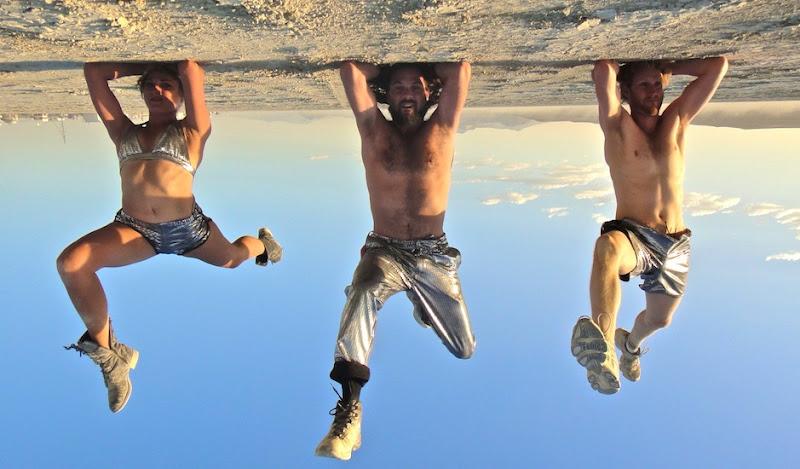 Tyler, Bill, Gal, Disco headstands in Desert