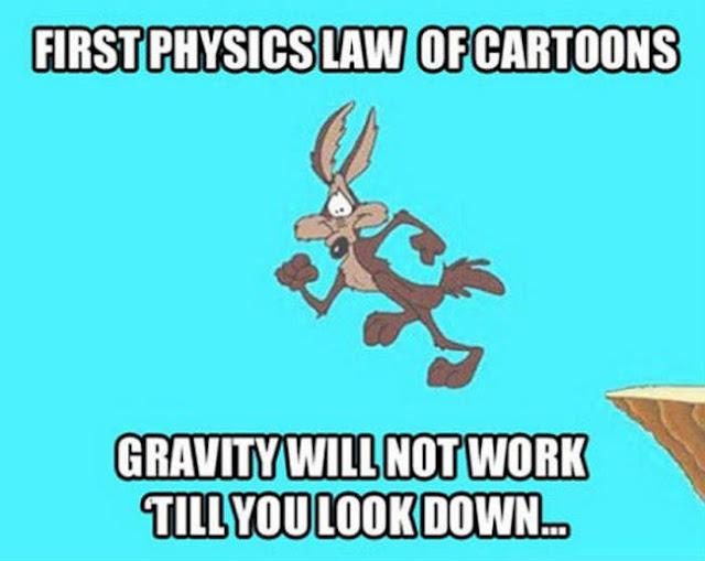 Newton s third law of cartoon physics