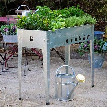 Jardinière en acier galvanisé