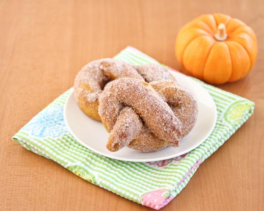 Cinnamon Pumpkin Soft Pretzels