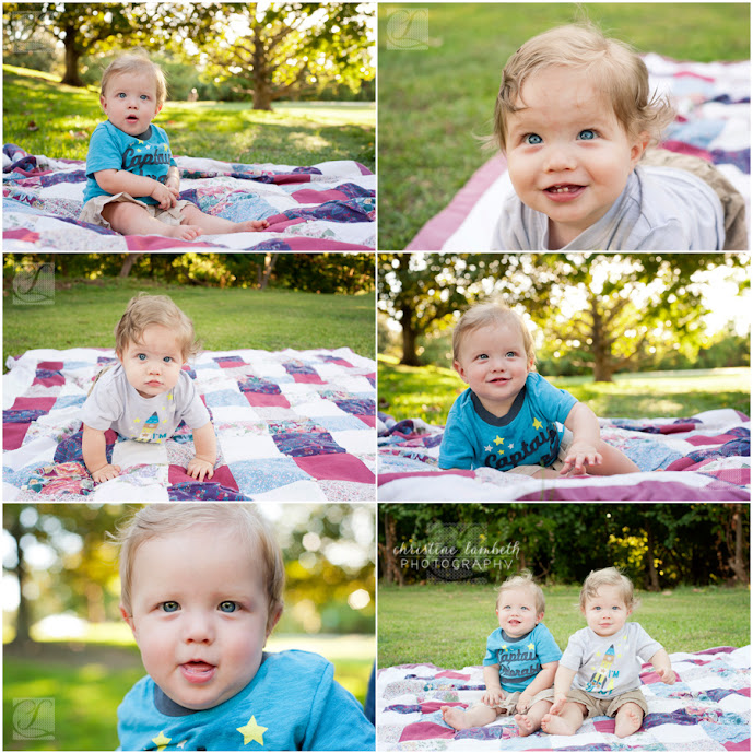 Twin nine-month-old boys - Houston natural light photographer