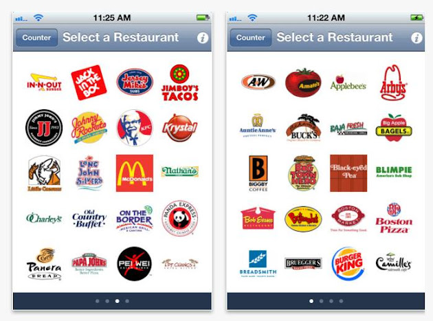Fast Food Calorie Counter App