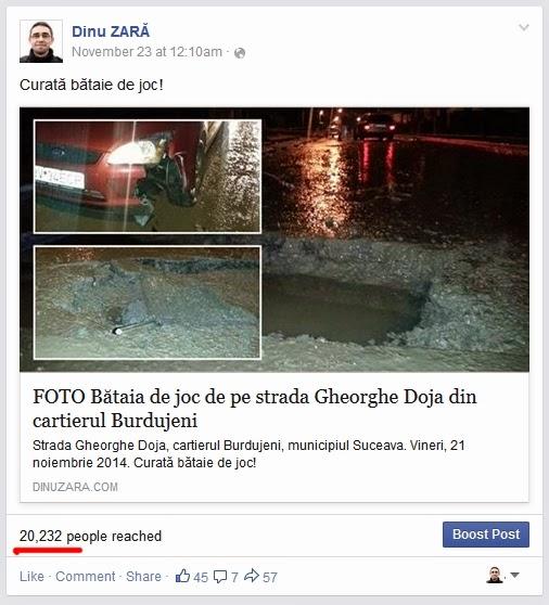 Dinu Zară pe Facebook: Bătaie de joc pe strada Gheorghe Doja
