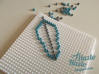 Cómo hacer un cazasueños con hama beads.