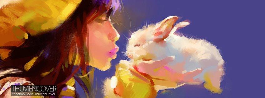 Ảnh bìa chú Thỏ dễ thương