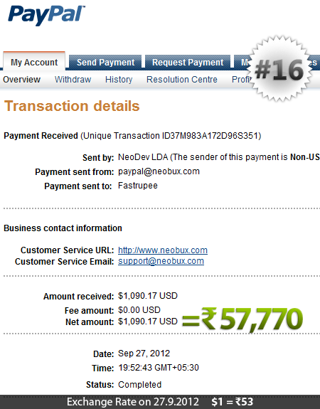 Neobux Payment Proof 16
