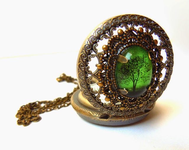 Emerald Bewitched Pocket Watch by youmin