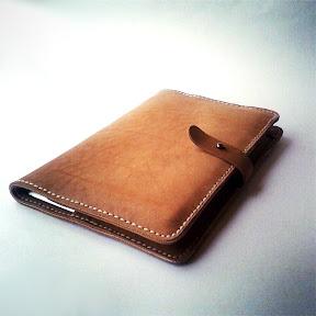 Кожаная папка ручной работы iPad+