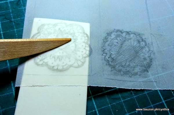 how to carve eraser stamps with an x-acto knife