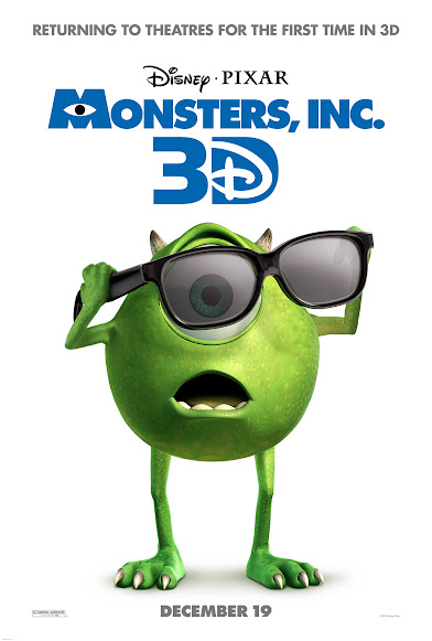 Disney*Pixar's Monsters, Inc 3D Hits Theaters on December 19, 2012