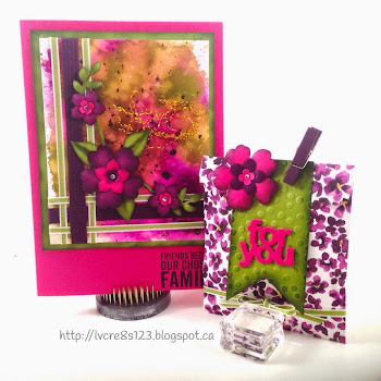 Linda Vich Creates: Creative Blog Hop. Painted Blooms paper was used to create this Mini Treat Bag using the Mini Treat Bag Thinlits Die and coordinates well with the watercolor card.