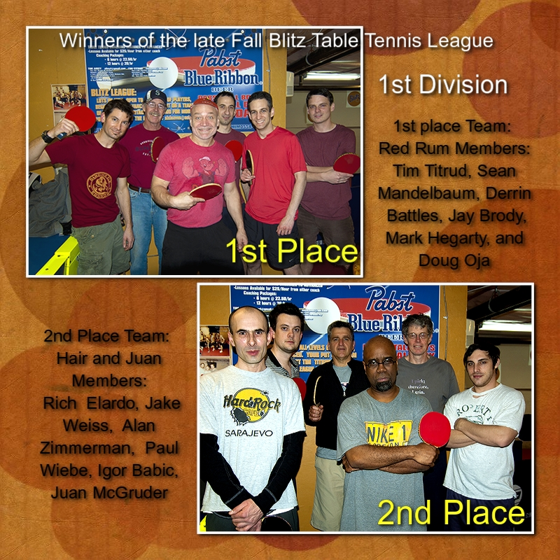 Blitz Ladd Table Tennis Winners - Late Fall pics