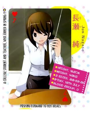 The World God Only Know, Jun Nagase seiyuu Aki Toyosaki