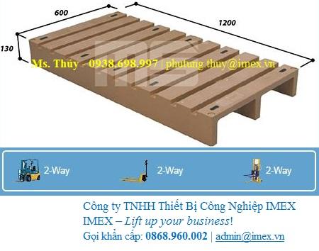 EN2-1206 Pallet nhựa Malaysia nhập khẩu