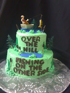 Sabtabulous Cakes 60th Birthday Cake Over The Hill Fishing