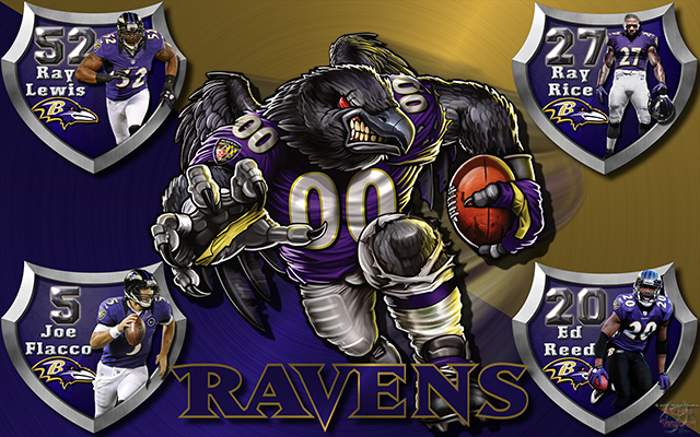 Ravens Crazy Logo Shield Players Wallpaper