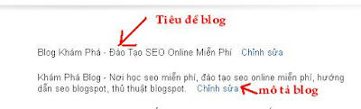Blogspot chuẩn seo