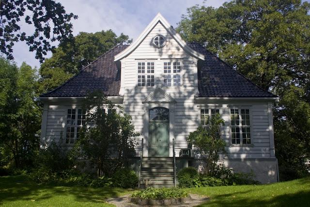 Las casas con jardín tienen también su espacio en Gamle Bergen