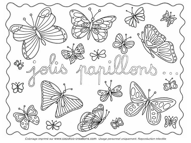 Coloriage Coin De Peinture: Dessin De Papillon à Colorier