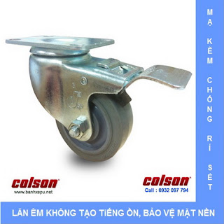 www.banhxepu.net Bánh xe cao su bánh xe đẩy chịu lực (82~122kg)