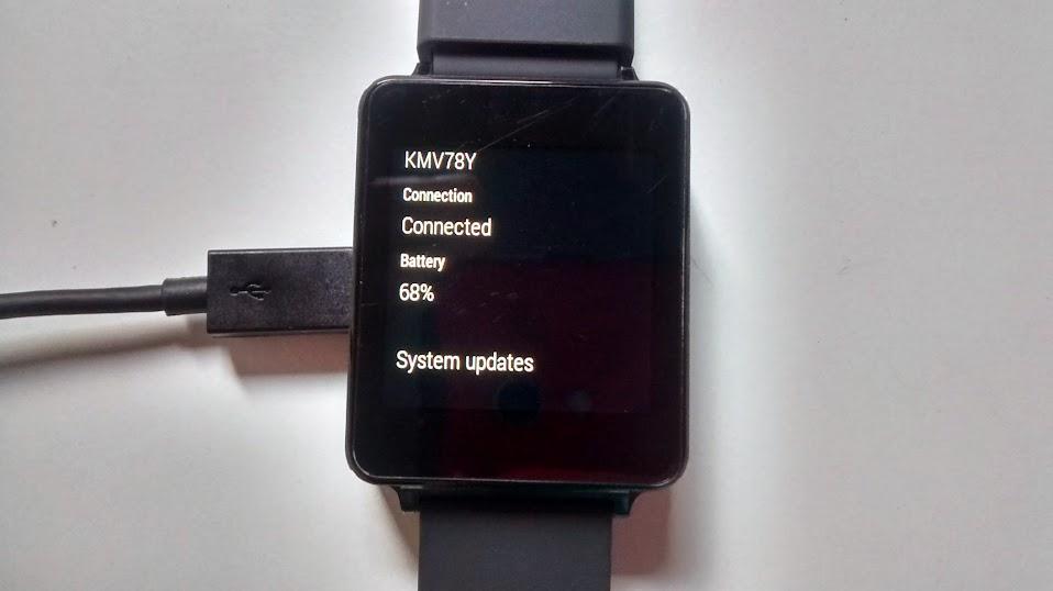 LG G Watch i jego bateria