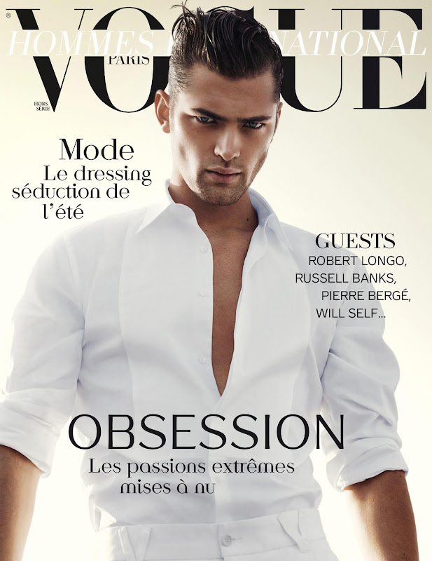 Sean O'Pry by David Sims for Vogue Hommes International S/S 2012. Styled by Beat Bolliger.