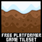 free winter platformer game tileset