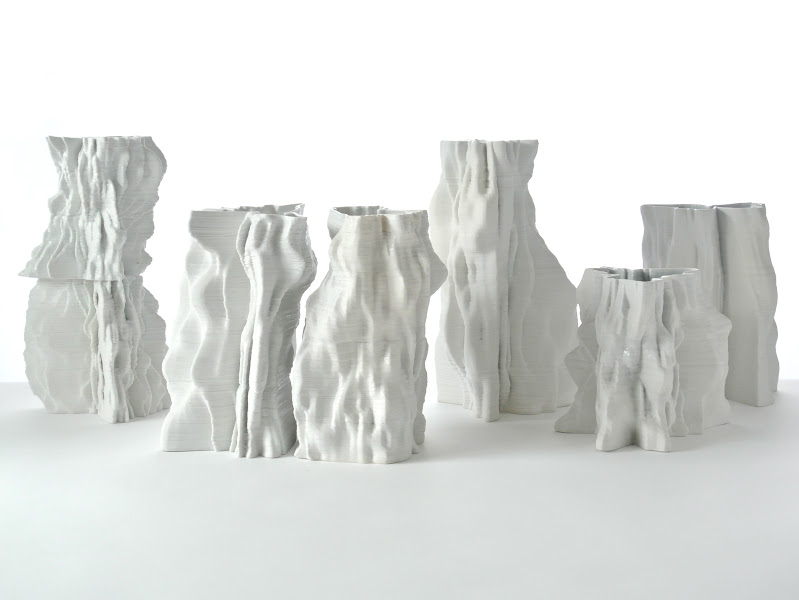 Jonathan Keep - Iceberg Field, 3D printed ceramics