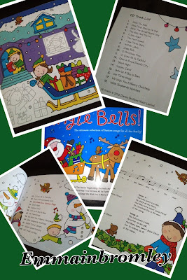 jingle bells sing and play activity book image collage