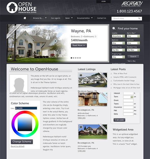 Open House WordPress Real Estate Theme