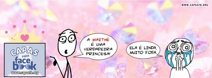 Capas para Facebook Maithê