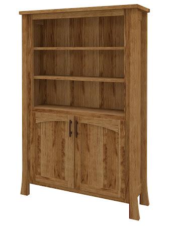 Palermo Wooden Door Bookshelf in Lamar Maple