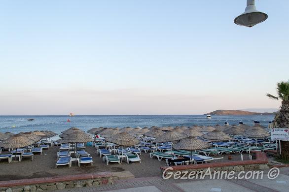 Bodrum, Petunya Beach Resort'un plajı