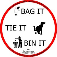 Bag it, Tie it, Bin it. Dispose of dog waste responsibly