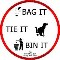 Bag it, Tie it, Bin it. Dispose of dog waste responsibly