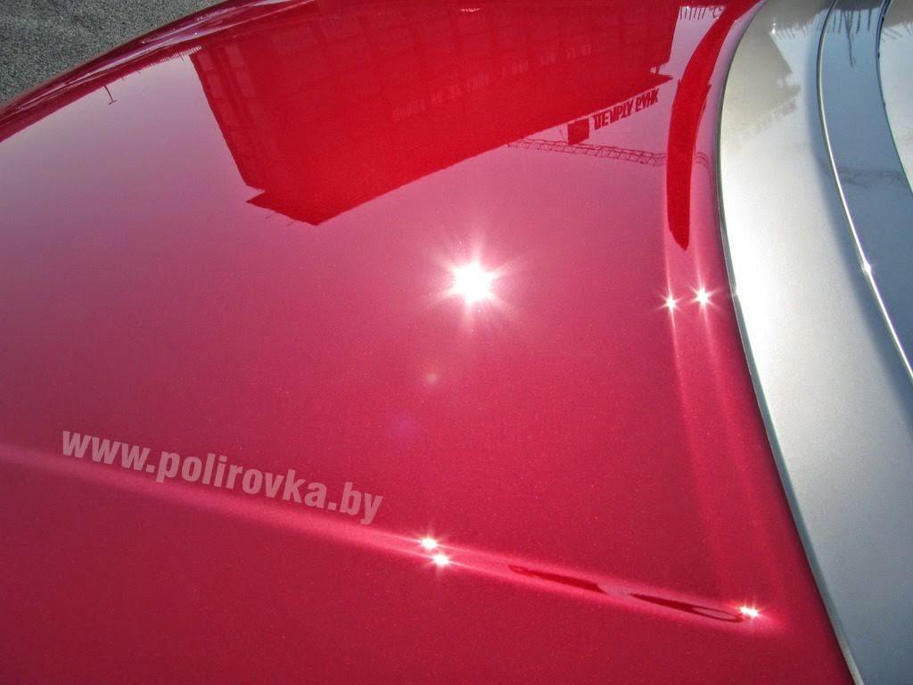 Пример восстановительной полировки автомобиля