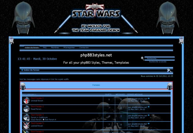 Free Star Wars Black Phpbb Style Theme
