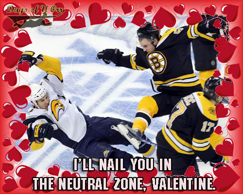 Love is in the air NHL Valentines Day cards – Hockey Valentines Day Cards