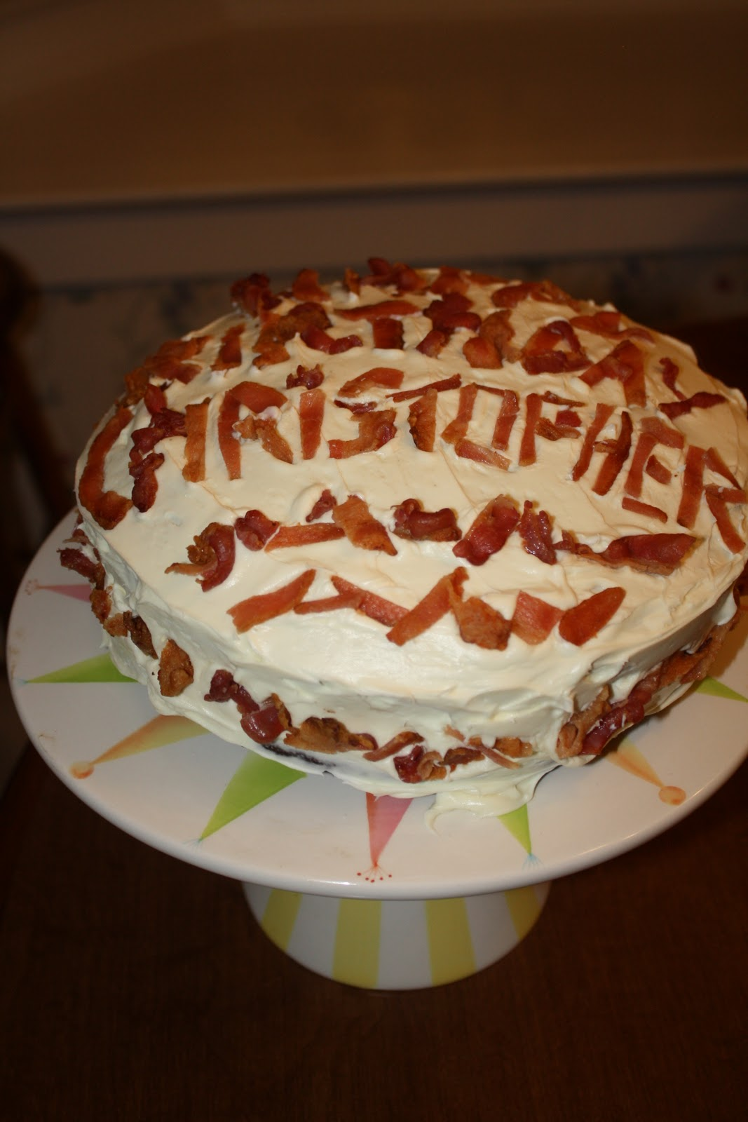 Be Glorious Bacon Birthday Cake For The Grown One