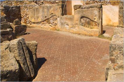 Sizilien - Solunto - Haus des Mosaikkreises