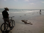 then we get invaded by the beach bikers