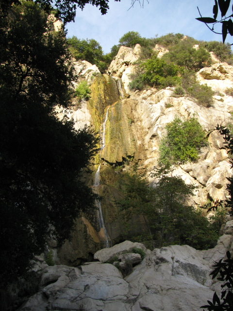Tangerine Falls, top to nearly bottom