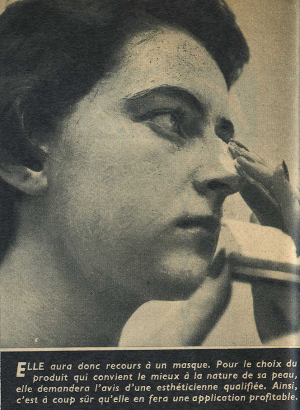 Article médical vintage : Masque de toile... peau de velours ! - Pour vous Madame, pour vous Monsieur, des publicités, illustrations et rédactionnels choisis avec amour dans des publications des années 50, 60 et 70. Popcards Factory vous offre des divertissements de qualité. Vous pouvez également nous retrouver sur www.popcards.fr et www.filmfix.fr   - For you Madame, for you Sir, advertising, illustrations and editorials lovingly selected in publications from the fourties, the sixties and the seventies. Popcards Factory offers quality entertainment. You may also find us on www.popcards.fr and www.filmfix.fr