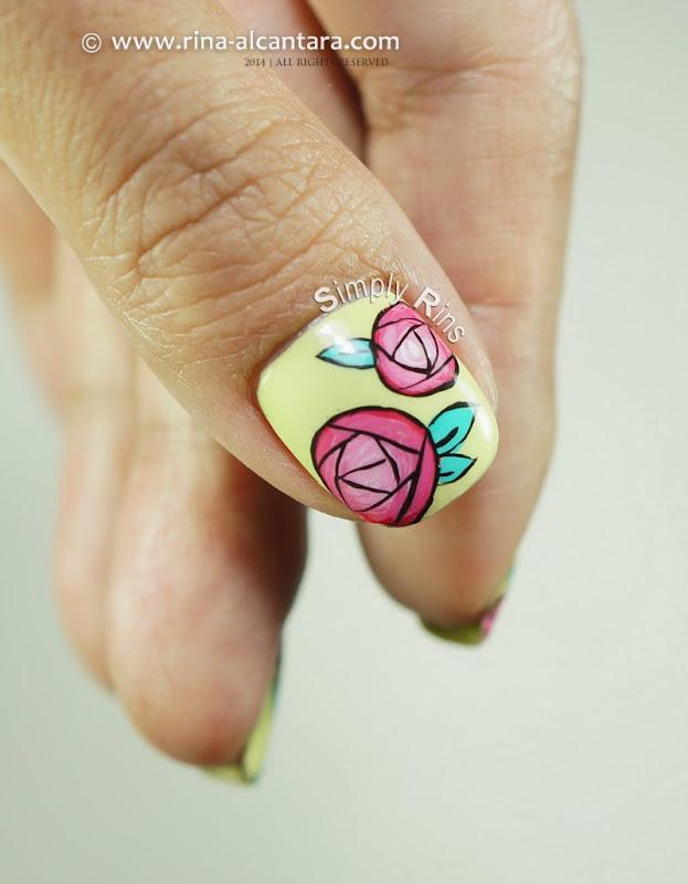 Nail Art: Paper Roses