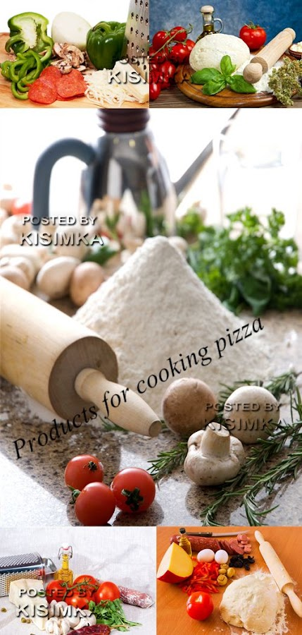 Stock Photo: Products for cooking pizza