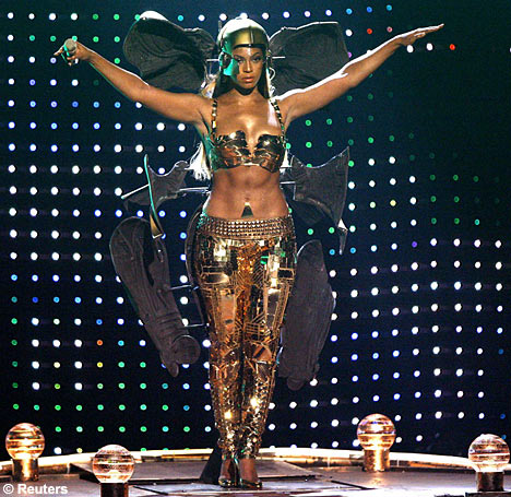 Beyonce wore a Robotic costumes to the 2007 BET awards. A full gold outfit with gold pyramids on her belt.  sc 1 st  Fashion And Photography & Fashion And Photography: Robotics.